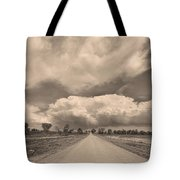 Colorado Country Road Sepia Stormin Skies Tote Bag