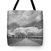 Colorado Country Road Stormin Skies Bw Tote Bag