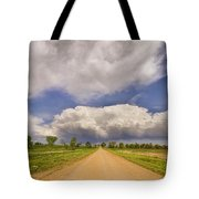 Colorado Country Road Stormin Skies Tote Bag