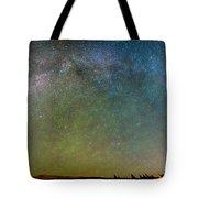Colorado Indian Peaks Milky Way Panorama Tote Bag