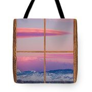Colorado Moon Sunrise Barn Wood Picture Window View Tote Bag