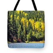 Colorado Mountain Lake In Fall Tote Bag