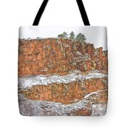 Colorado Red Sandstone Country Dusted With Snow Tote Bag