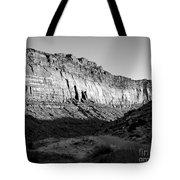 Colorado River Cliff Bw Tote Bag