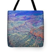 Colorado River From Walhalla Overlook On North Rim Of Grand Canyon-arizona Tote Bag