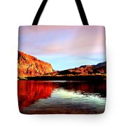 Colorado River Lees Ferry Painting Tote Bag