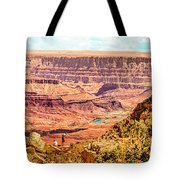 Colorado River One Mile Below And 18 Miles Across The Grand Canyon  Tote Bag