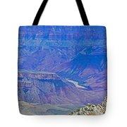 Colorado River Two At Cape Royal On North Rim Of Grand Canyon-arizona Tote Bag