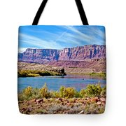 Colorado River Upstream From Boat Ramp At Lee's Ferry In Glen Canyon National Recreation Area-az Tote Bag