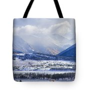 Colorado Rocky Mountain Autumn Storm Tote Bag