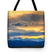 Colorado Rocky Mountain Front Range Sunset Gold Tote Bag