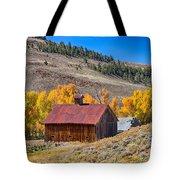 Colorado Rustic Rural Barn With Autumn Colors  Tote Bag