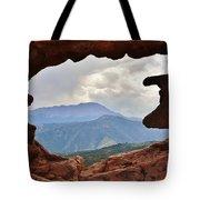 Colorado Siamese Twins Pikes Peak View Tote Bag