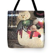 Colorado Snowman Family 2 12 2011 Tote Bag
