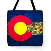 Colorado State Flag In Van Gogh Tote Bag