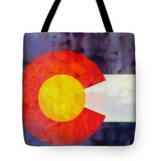 Colorado State Flag Weathered And Worn Tote Bag