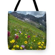 Colorado Wildflowers And Mountains Tote Bag