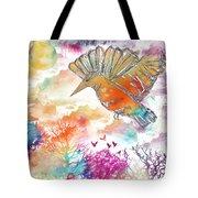 Colored Bird Tote Bag