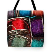 Colored Bobbins - Seamstress - Quilter Tote Bag