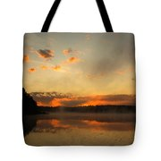 Colored Clouds Tote Bag