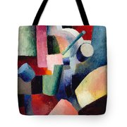 Colored Composition Of Forms   Tote Bag