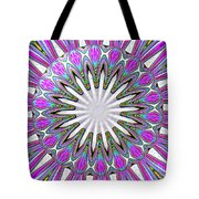 Colored Foil Lily Kaleidoscope Under Glass Tote Bag