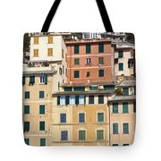 Colored Italian Facades Tote Bag