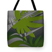 Colored Jungle Green Tote Bag