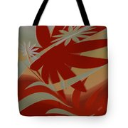 Colored Jungle Red Tote Bag