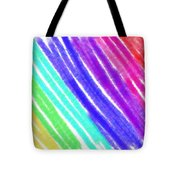 Colored Lines Tote Bag