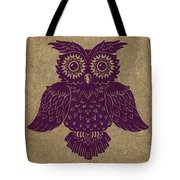 Colored Owl 1 Of 4  Tote Bag