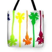 Colored Palms Tote Bag