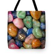 Colored Polished Rocks Tote Bag
