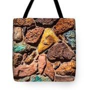 Colored Stone Rock Church Wall - Cedar City - Utah Tote Bag