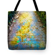 Colored Stones And Lichen Covered Bridge Tote Bag