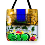 Colored Wall Tote Bag