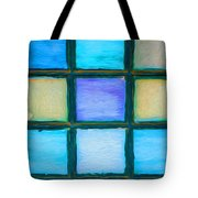 Colored Window Panes Tote Bag