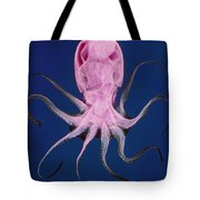 Colored X-ray Of An Unidentified Octopus Tote Bag