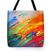 Colorful Abstract Acrylic Painting Tote Bag