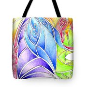 Colorful Abstract Drawing Tote Bag