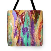 Colorful Abstract Falls Tote Bag by Julia Apostolova