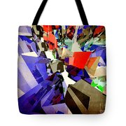 Colorful Abstract Geometric Cluster Tote Bag