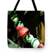 Colorful Accents In Florida Gardens Tote Bag