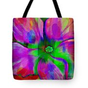 Colorful African Violet Tote Bag