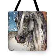 Colorful Arabian Horse  Tote Bag