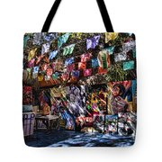Colorful Art Store In Mexico Tote Bag
