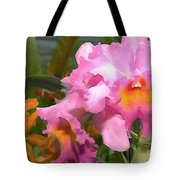Colorful Assorted Cattleya Orchids Tote Bag