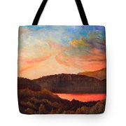 Colorful Autumn Sunset Tote Bag