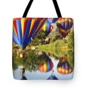 Colorful Balloons Fill The Frame Tote Bag