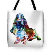 Colorful Basset Tote Bag